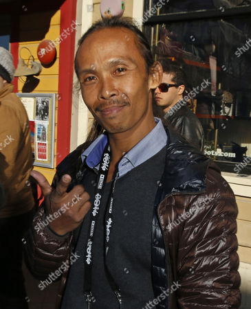 Indonesian Actor/cast Member Yayan Ruhian From the Film 'The Raid Two' Walks Along Old Main Street During the 2014 Sundance Film Festival in Park City Utah Usa 21 January 2014 the Festival Runs From 16 to 26 January United States Park City