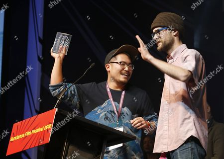 Writers and Directors Daniel Kwan (l) and Daniel Scheinert (r) Accept the 'Us Dramatic Directing Award' For the Film 'Swiss Army Man' at the 2016 Sundance Film Festival Awards Ceremony in Park City Utah Usa 30 January 2016 the Festival Runs From 21 to 31 January 2016 United States Park City