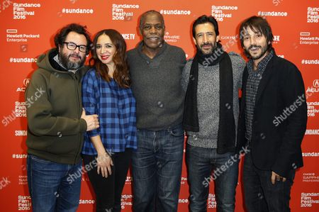 (l-r) Producer Pablo Cruz Actors Maya Rudolph Danny Glover Jose Maria Yazpik and Diego Luna Arrive For the Premiere of the Mexican Film 'Mr Pig' at the 2016 Sundance Film Festival in Park City Utah Usa 26 January 2016 the Festival Runs From 21 to 31 January United States Park City