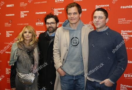 (l-r) Us Actress Rosanna Arquette Producer Jay Van Hoy Actor Michael Shannon and Writer/director Matthew Ross Arrive For the Premiere of 'Frank & Lola' at the 2016 Sundance Film Festival in Park City Utah Usa 27 January 2016 the Festival Runs From 21 to 31 January United States Park City