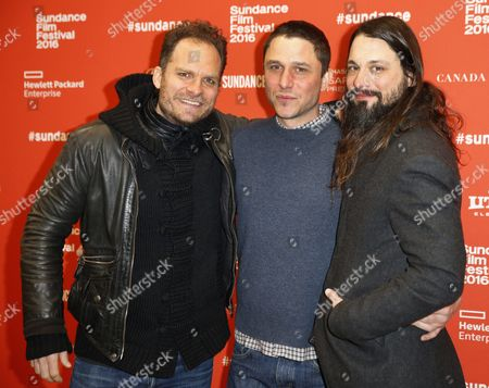 Composer Danny Bensi (l) Writer/director Matthew Ross (c) and Composer Saunder Jurriaans (r) Arrive For the Premiere of 'Frank & Lola' at the 2016 Sundance Film Festival in Park City Utah Usa 27 January 2016 the Festival Runs From 21 to 31 January United States Park City