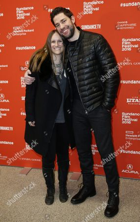 Us Producer Allyson Seeger (l) and Us Actor/director John Krasinski (r) Arrives For the Premiere of 'The Hollars' at the 2016 Sundance Film Festival in Park City Utah Usa 29 January 2016 the Festival Takes Place From 21 to 31 January United States Park City