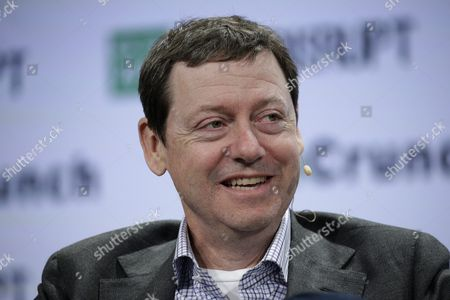 Stock Image of Fred Wilson Partner at Union Square Ventures Speaks on Stage at Techcrunch Disrupt 2016 New York in Brooklyn New York New York Usa 10 May 2016 United States Brooklyn