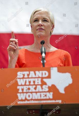 Stock Photo of Head of Planned Parenthood Cecile Richards Daughter of Former Texas Governor Ann Richards Speaks at a Women's Rights Rally Before a Special Session of the Texas Legislature in Austin Texas Usa 01 July 2013 Texas Governor Rick Perry Called a Special Session of the Texas Legislature Relating to the Regulation of Abortion Procedures Providers and Facilities in Texas After Lawmakers Missed a Deadline to Vote on 25 June 2013 After a Eleven Hour Filibuster by Senator Wendy Davis United States Austin