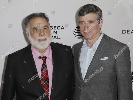 Us Film Director Francis Ford Coppola (l) and Us Author Jay Mcinerney Attend Tribeca Talks Storytellers Series at the Tribeca Film Festival in New York New York Usa 20 April 2016 the Tribeca Film Festival Runs From 14 April to 24 April 2016 United States New York
