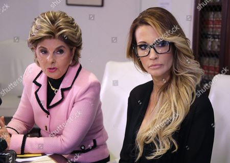 Jessica Drake (r) an Adult Film Performer Listens to Questions After Giving a Statement in Which She Alleges Republican Presidential Candidate Donald Trump Sexually Harassed Her at a 2006 Golf Event in Lake Tahoe at a Press Conference Held by Attorney Gloria Allred (l) in Los Angeles California Usa 22 October 2016 a Number of Women Have Come Forth Accusing Republican Presidential Candidate Donald Trump of Sexual Misconduct Trump Has Said He Will Sue All His Accusers After the Election Epa/mike Nelson United States Los Angeles