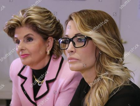 Jessica Drake (r) an Adult Film Performer Listens to Questions After Giving a Statement in Which She Alleges Republican Presidential Candidate Donald Trump Sexually Harassed Her at a 2006 Golf Event in Lake Tahoe at a Press Conference Held by Attorney Gloria Allred (l) in Los Angeles California Usa 22 October 2016 a Number of Women Have Come Forth Accusing Republican Presidential Candidate Donald Trump of Sexual Misconduct Trump Has Said He Will Sue All His Accusers After the Election Epa/mike Nelson Epa/mike Nelson United States Los Angeles