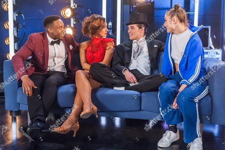 Rohan Pinnock-Hamilton, Lucy-Jo Hudson, Jonny Labey and Chrissy Brooke