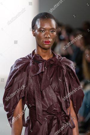 Stock Image of Nala Luuna Diagouraga on catwalk