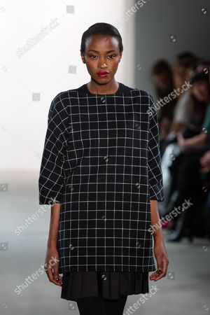 Stock Picture of Lucy Nelson Lee on catwalk