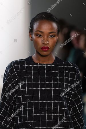Stock Image of Lucy Nelson Lee on catwalk