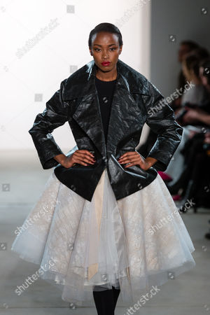 Stock Photo of Lucy Nelson Lee on catwalk