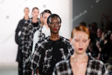 Stock Picture of Nala Luuna Diagouraga on catwalk
