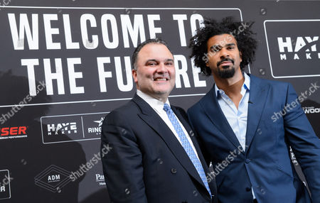 Stock Picture of David Haye and Richard Schaefer