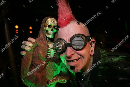 Hannibal Helmurto with his new devil horns attached to a metal plate in his skull