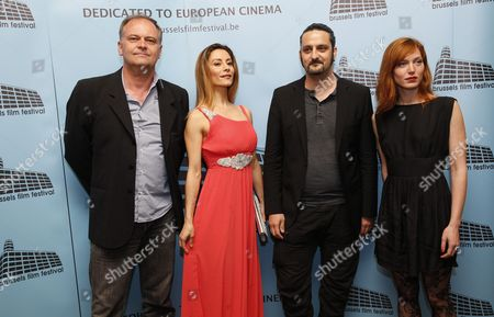 (l-r) Jury Members French Director Christian Carion Italian Actress Antonella Salvucci Belgian Director Olivier Masset-depasse and Belgian Actress Erika Sainte Pose at the Opening Ceremony of the 13th Brussels Film Festival at Flagey in Brussels Belgium 05 June 2015 the Festival Runs From 05 to 12 June Belgium Brussels