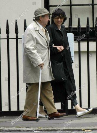 Peter Sallis walking near his Hyde Park home