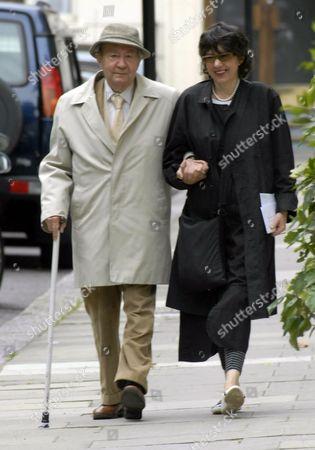 Stock Photo of Peter Sallis walking near his Hyde Park home