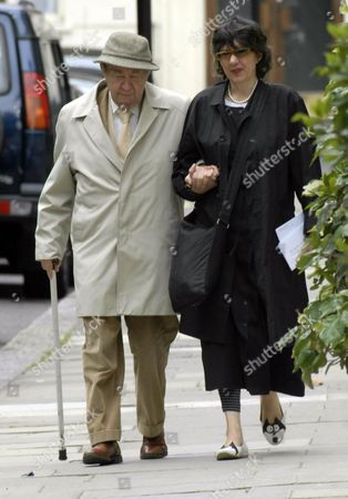 Editorial picture of Peter Sallis walking near his home in Hyde Park, London, Britain - 20 Aug 2008