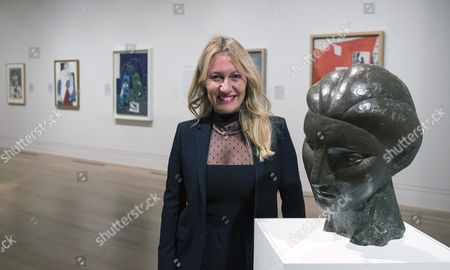 Diana Widmaier Picasso Granddaugther of Spanish Painter and Sculptor Pablo Picasso Poses Next to a Bust of Her Grandmother Marie-therese Walter During a Press Preview of 'Picasso Portraits' Exhibition at the National Portrait Gallery Central London 05 October 2016 the Exhibition That Features Over 80 Portraits and Sculptures by the Famous Artist Runs From 06 October Until 05 February 2017 United Kingdom London