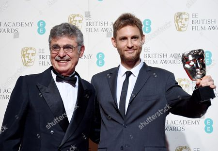 Hugo Sigmam (l) and Damian Szifron (r) Pose in the Press Room After Winning the Film not in the English Language Award For 'Wild Tales' During the 69th Annual British Academy Film Awards at the Royal Opera House in London Britain 14 February 2016 the Ceremony is Hosted by the British Academy of Film and Television Arts (bafta) United Kingdom London
