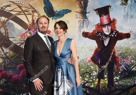 British Director James Bobin (l) and His Wife Fran Beauman Arrive For the European Premiere of 'Alice Through the Looking Glass' at Leicester Square in Central London Britain 10 May 2016 the Movie Will Be Released in British Theaters on 27 May United Kingdom London