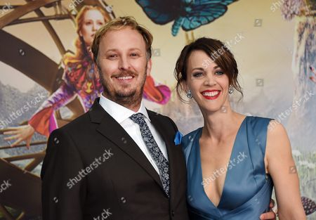 Stock Photo of British Director James Bobin (l) and His Wife Fran Beauman Arrive For the European Premiere of 'Alice Through the Looking Glass' at Leicester Square in Central London Britain 10 May 2016 the Movie Will Be Released in British Theaters on 27 May United Kingdom London