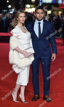 Colombian Striker Radamel Falcao Arrives with His Wife Lorelei Taron For the World Premiere of 'Ronaldo' at Leicester Square in London Britain 09 November 2015 the Documentary Film is Released in British Theaters the Same Day United Kingdom London