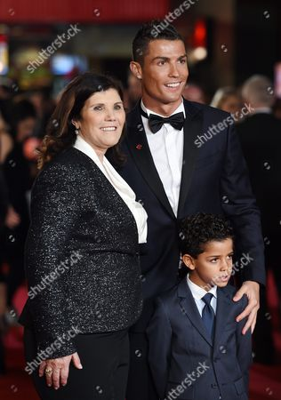 Real Madrid's Portuguese Striker Cristiano Ronaldo Arrives with His Son Cristiano Ronaldo Jr and Mother Maria Dolores Aveiro For the World Premiere of 'Ronaldo' at Leicester Square in London Britain 09 November 2015 the Documentary Film is Released in British Theaters the Same Day United Kingdom London
