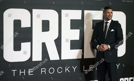 British Boxer/cast Member Tony Bellow Arrives at the European Premiere For 'Creed' in Leicester Square Central London Britain 12 January 2016 the Film is the Seventh Instalment of the Rocky Film Franchise and is Due For Release in the United Kingdom on 15 January United Kingdom London