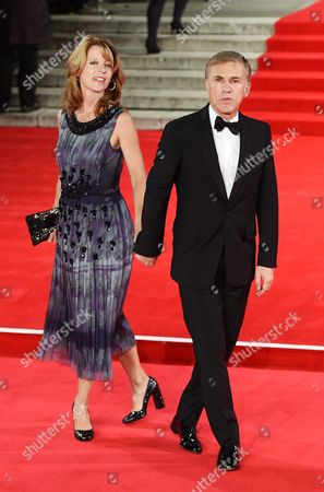 German-austrian Actor/cast Member Christoph Waltz (r) and Wife Judith Holste Attend the World Premiere of the New James Bond Film 'Spectre' at the Royal Albert Hall in London Britain 26 October 2015 Spectre is the 24th Official James Bond Film and is Released in the United Kingdom on 26 October United Kingdom London