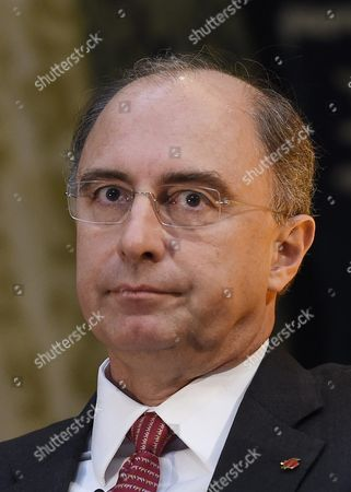 Chief Executive of the London Stock Exchange Xavier Rolet Speaks During the Bank of England's Open Forum 2015 Conference on Financial Regulation in the Guldhall London Britain 11 November 2015 United Kingdom London