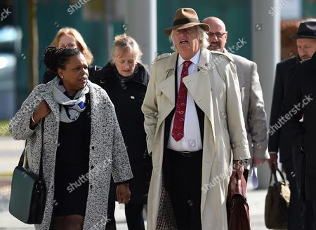 Michael Mansfield (3-r) Queens Council (qc) Lead Counsel Representing the Hillsborough Families Arrives at the Coroners Court Before the Verdict of the Hillsborough Inquest is Announced at the Coroners Court Warrington Britain 26 April 2016 the Hillsborough Disaster was a Human Crush That Caused the Deaths of 96 People and Injured 766 Others at a Fa Cup Semi Final Soccer Match Between Liverpool and Nottingham Forest at Hillsborough Stadium Sheffield England on 15 April 1989 United Kingdom Warrington