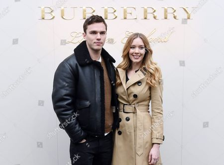 British Actor Nicholas Hoult (l) and His Sister Rosanna Hoult Arrive For the Burberry Show at Kensington Gardens During the London Fashion Week in London Britain 22 February 2016 the Fall/winter 2016 Collections Are Presented From 19 to 23 February United Kingdom London