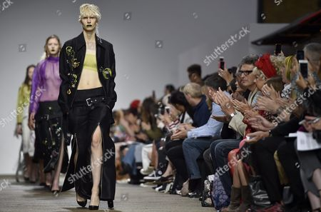 Stock Image of Models Present Creations From the Spring/summer 2017 Collection by Amie Victoria Robertson As Part of the Fashion East Show During the London Fashion Week in London Britain 17 September 2016 the Presentation of the Women's Collections Runs From 16 to 20 September United Kingdom London