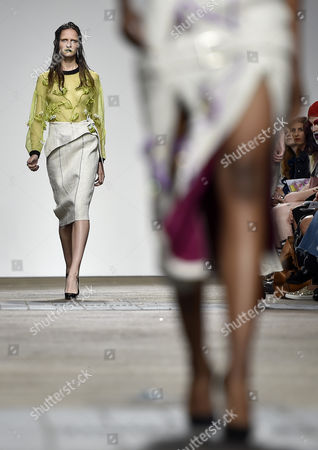 Models Present Creations From the Spring/summer 2017 Collection by Amie Victoria Robertson As Part of the Fashion East Show During the London Fashion Week in London Britain 17 September 2016 the Presentation of the Women's Collections Runs From 16 to 20 September United Kingdom London