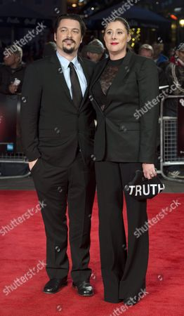 Us Director James Vanderbilt (l) and His Wife Amber Freeman Arrive For the Premiere of 'Truth' at the 59th Bfi London Film Festival in London Britain 17 October 2015 the Festival Runs From 07 to 18 October United Kingdom London