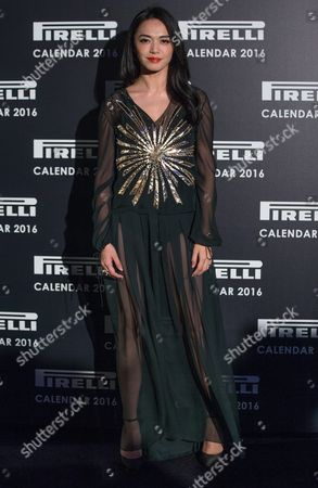 Chinese Actress Yao Chen Poses As She Arrives on the Red Carpet During the Pirelli 2016 Calendar Gala in London Britain 30 November 2015 the 43rd Edition of the Pirelli Calendar was Created by Us Photographer Annie Leibovitz United Kingdom London