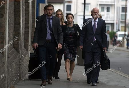 Former Chelsea Doctor Eva Carneiro (centre) Arrives at South London Employment Tribunal in Croydon South London 07 June 2016 Eva Carneiro Has Brought a Constructive Dismissal and Sex Discrimination Suit Against Her Former Employers Chelsea Football Club She Also Has a Separate But Connected Legal Action Against Then Former Club Manager Jose Mourhino United Kingdom Croydon