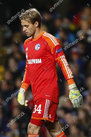 Goalkeeper Timo Hildebrand of Fc Schalke 04 During the Uefa Champions League Group E Soccer Match Between Chelsea and Fc Schalke 04 at Stamford Bridge in London Britain 06 November 2013 United Kingdom London