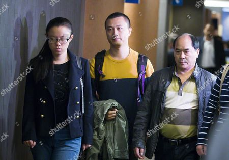 Diran Lin (r) Father of Victim Jun Lin and Members of His Family Walk to the Courtroom For the Murder Trial of Luka Rocco Magnotta at Court in Montreal Canada 29 September 2014 Magnotta is Accused of Murdering Chinese Student Jun Lin in 2012 Magnotta Pleaded not Guilty to Five Charges Canada Montreal