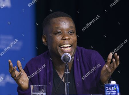 Canadian Actor and Cast Member Mpho Koaho Attends the Press Conference For 'Black and White' During the 39th Annual Toronto International Film Festival (tiff) in Toronto Canada 07 September 2014 the Festival Runs From 04 To14 September Canada Toronto