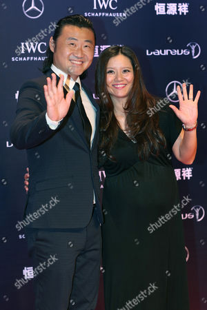 Former Chinese Tennis Player Li Na (r) and Her Husband Jiang Shan Arrive For the 2015 Laureus Sports Awards Ceremony at Shanghai Grand Theater in Shanghai China 15 April 2015 the Laureus Media Prize is Attributed to People That Have Made an Impact to the World of Sport China Shanghai