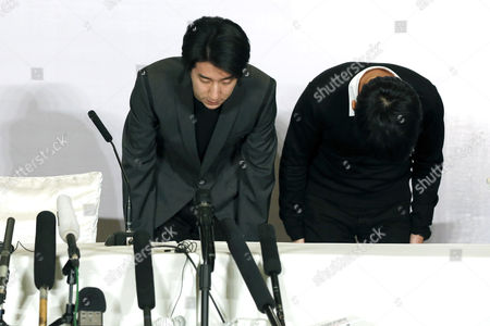 Chinese Entertainment Star Jaycee Chan (l) and His Manager Steven Chang Attend a Press Conference After His Release From Prison in Beijing China 14 February 2015 Jaycee Chan Son of Hollywood Actor Jackie Chan was Released From Prison on 13 February 2015 After Being Sentenced to Six Months in Prison and Fined 2000 Yuan (321 Dollars) For Drug Related Charges China Beijing