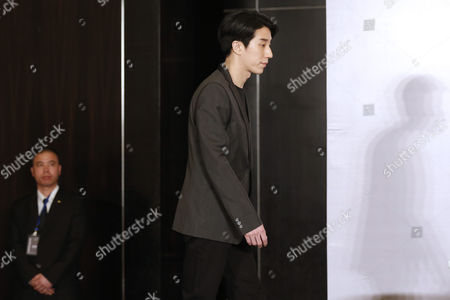 Stock Picture of Chinese Entertainment Star Jaycee Chan Attends a Press Conference After His Release From Prison in Beijing China 14 February 2015 Jaycee Chan Son of Hollywood Actor Jackie Chan was Released From Prison on 13 February 2015 After Being Sentenced to Six Months in Prison and Fined 2000 Yuan (321 Dollars) For Drug Related Charges China Beijing