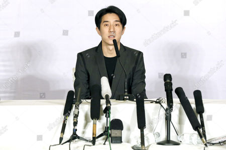 Stock Image of Chinese Entertainment Star Jaycee Chan Attends a Press Conference After His Release From Prison in Beijing China 14 February 2015 Jaycee Chan Son of Hollywood Actor Jackie Chan was Released From Prison on 13 February 2015 After Being Sentenced to Six Months in Prison and Fined 2000 Yuan (321 Dollars) For Drug Related Charges China Beijing