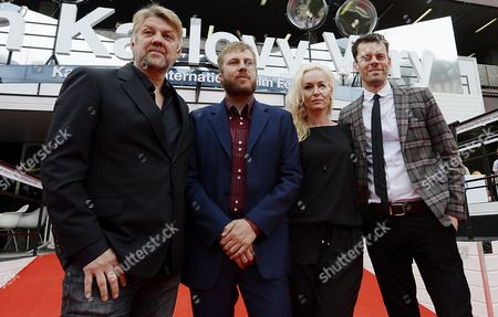 Stock Photo of (l-r) Icelandic Actor Helgi Bjornsson Icelandic Director Hafsteinn Gunnar Sigurdsson Icelandic Actress Nanna Kristin Magnusdottir and Icelandic Actor Bjorn Thors Pose For Photographers Before the World Premiere of 'Paris of the North' at the 49th Karlovy Vary International Film Festival Karlovy Vary Czech Republic 08 July 2014 the Film Festival Runs Until 12 July Czech Republic Karlovy Vary