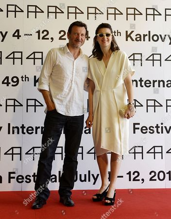 Polish Director Robert Wieckiewicz (l) and Polish Actress Agnieszka Grochovska Pose For Photographers Before Press Conference For the Movie 'Walesa: Man of Hope' During the 49th Karlovy Vary International Film Festival in Karlovy Vary Czech Republic 06 July 2014 the Film Festival Runs Until 12 July Czech Republic Karlovy Vary
