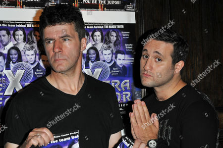 Antony Costa and Andrew Monk (Simon Cowell lookalike, not in show).