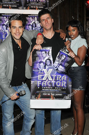 Anthony Kavanagh, Andrew Monk (Simon Cowell lookalike, not in show) and Kelle Bryan.